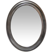 Charlton Home Oval Antique Silver Accent Mirror