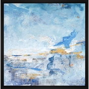 Corrigan Studio 'Blue Impresion I' Framed Print on Wrapped Canvas