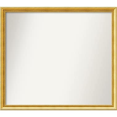 Astoria Grand Accent Wall Mounted Gold Mirror; 38.38'' H x 43.38'' W x 1.25'' D