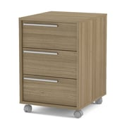 Ebern Designs Tailynn 3-Drawer Vertical Filling Cabinet; Light Brown