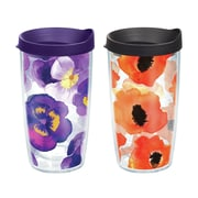 Tervis Tumbler Watercolor Flowers Gift 16 oz. 2 Piece Insulated Tumbler Set
