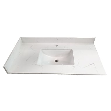 NGY Stone & Cabinet Ajax 49'' Single Bathroom Vanity Top