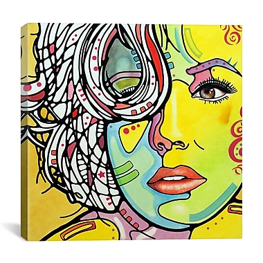 Latitude Run 'Strawberry Blonde' by Dean Russo Framed Graphic Art on Wrapped Canvas; 37'' H x 37'' W