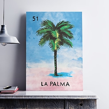 WeLoveCMYK 'La Palma Tree' Graphic Art Print on Canvas; 7'' H x 5'' W x 0.1'' D