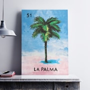 WeLoveCMYK 'La Palma Tree' Graphic Art Print on Canvas; 36'' H x 24'' W x 0.1'' D