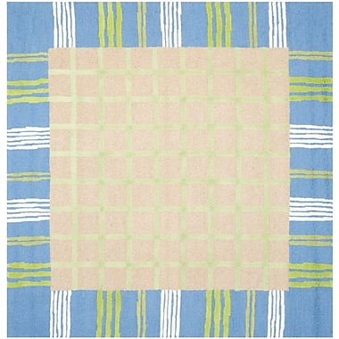 Harriet Bee Claro Taupe & Blue Area Rug; Square 7'