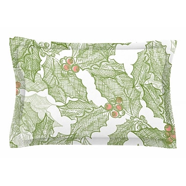 East Urban Home Jennifer Rizzo 'Vintage Sketched Holly' Sham; 20'' H x 40'' W x 0.25'' D