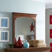 My Home Furnishings Neopolitan Rectangular Dresser Mirror; Driftwood Grey