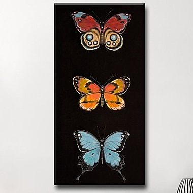 Winston Porter 'Butterfly Trio II' Graphic Art Print on Canvas; 40'' H x 20'' W x 1.5'' D