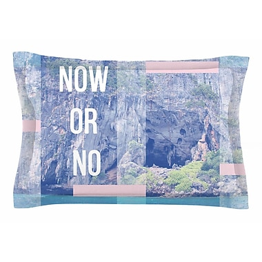 East Urban Home Vasare Nar 'Now or No' Mixed Media Sham; 20'' H x 30'' W x 1'' D