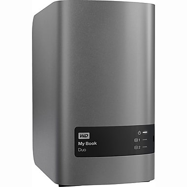 WD My Book Duo 16 TB External Hard Drive with RAID Storage (WDBLWE0160JCH)
