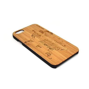 Go Wood Cell Phone Fitted Case for Apple iPhone 6, World Map (GW-B12)