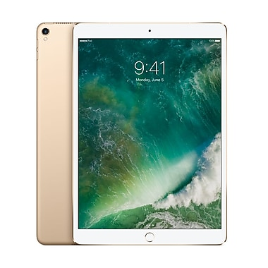 Apple – Tablette Retina iPad Pro MPMG2CL/A 10,5 po, puce A10X Fusion, 512 Go, Wi-Fi + Cellular, or