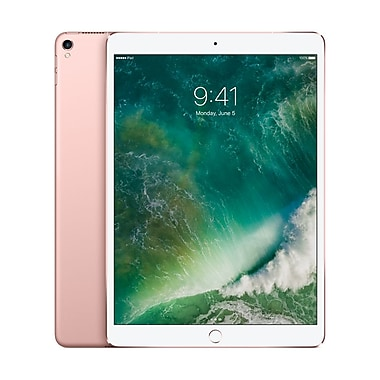 Apple – Tablette Retina iPad Pro MPMH2CL/A 10,5 po, puce A10X Fusion, 512 Go, Wi-Fi + Cellular, or rose