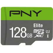 PNY 128GB Elite Class 10 U1 MicroSD Flash Card