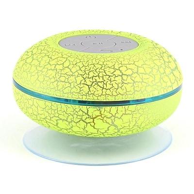 LAX Gadgets Wireless Bluetooth Waterproof Shower Speaker, Green