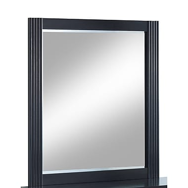 Latitude Run Alleen Rectangular Dresser Mirror; Black