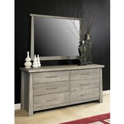 Home Image Fusion Rectangular Mirror; Driftwood Gray