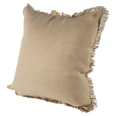 Gracie Oaks Millburn Linen Throw Pillow; Tan