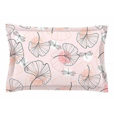 East Urban Home Mmartabc 'Pattern Flowers and Dragonflies' Illustration Sham
