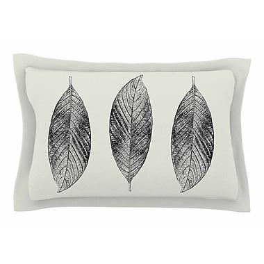 East Urban Home Julia Grifol 'Three Leaves' Nature Sham; 20'' H x 30'' W x 1'' D