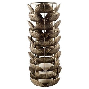 World Menagerie Bronze Metal Hurricane; 16'' H x 7'' W x 7'' D