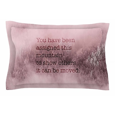 East Urban Home Suzanne Carter 'Mountain' Typography Digital Sham; 20'' H x 40'' W x 0.25'' D