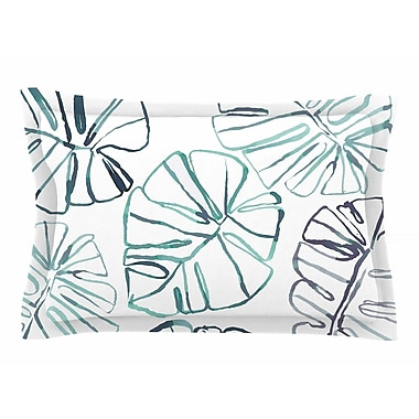 East Urban Home Danii Pollehn 'Monstera' Illustration Sham; 20'' H x 30'' W x 1'' D