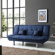 Latitude Run Hertford Convertible Sofa; Blue