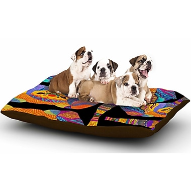 East Urban Home Pom Graphic Design 'The Elephant in the Room' Tribal Dog Pillow w/ Fleece Cozy Top