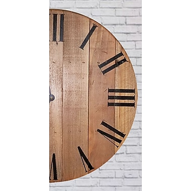 Loon Peak Hand Crafted Round Wall Clock; 30'' H x 30'' W x 1.5'' D