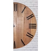 Loon Peak Hand Crafted Round Wall Clock; 50'' H x 50'' W x 2'' D