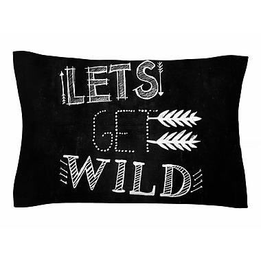East Urban Home Chelsea Victoria 'Let's Get Wild' Typography Illustration Sham; Queen