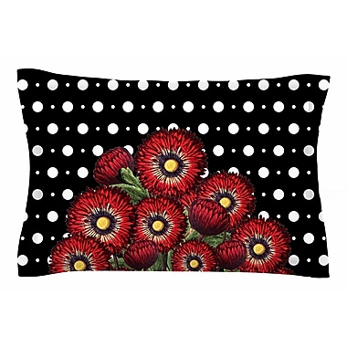 East Urban Home Tobe Fonseca 'Spring Floral Red' Mixed Media Sham; 20'' H x 30'' W x 1'' D
