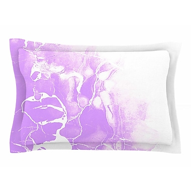 East Urban Home Cafelab 'Purple Marble w/ White' Illustration Sham; 20'' H x 40'' W x 0.25'' D