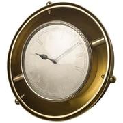Longshore Tides Dome Gold Wall Clock; 19'' H x 19'' W x 9'' D