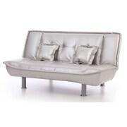 Latitude Run Hertford Convertible Sofa; Silver