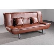 Latitude Run Hertford Convertible Sofa; Brown