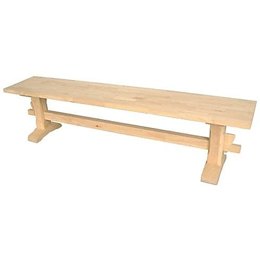 International Concepts Unfinished Wood Dinning Bench