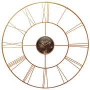 World Menagerie Oversized 45.25'' Rose Gold Wall Clock