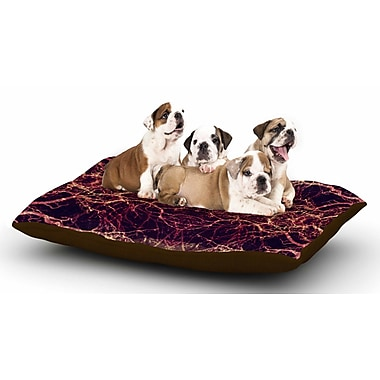 East Urban Home Pia Schneider 'Burning Roots I+VIII' Abstract Dog Pillow w/ Fleece Cozy Top