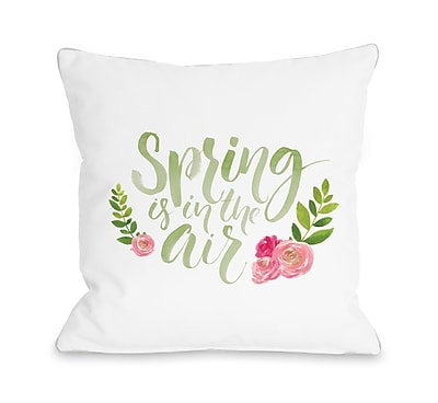Ivy Bronx Jamestown Spring Is in the Air Throw Pillow; 18'' H x 18'' W x 3'' D