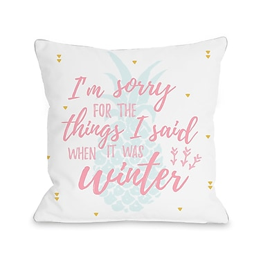 Ivy Bronx Chevron Things I Said Throw Pillow; 18'' H x 18'' W x 3'' D