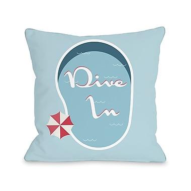Highland Dunes Bruce Dive in Throw Pillow; 18'' H x 18'' W x 3'' D