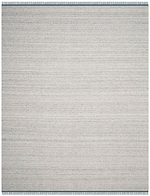 Ivy Bronx Sojourn Hand-Woven Gray/Ivory Area Rug; 8' x 10'