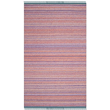 Ivy Bronx Sojourn Hand-Woven Purple/Rust Area Rug; 5' x 8'