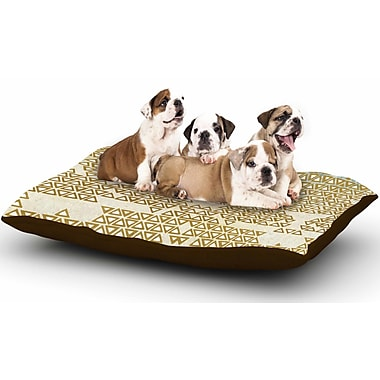 East Urban Home Pom Graphic Design 'Mint & Gold Empire' Geometric Dog Pillow w/ Fleece Cozy Top