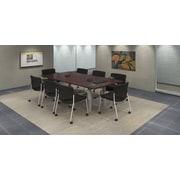 Trendway 9 Piece Rectangular Conference Table Set; Mahogany