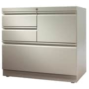 Trendway File Center 4-Drawer Lateral Filing Cabinet; Light Gray