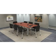 Trendway 9 Piece Rectangular Conference Table Set; Cherry